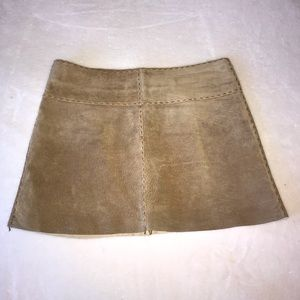 Arden B. suede leather skirt